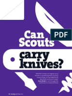 Scouting magazine articles on knives