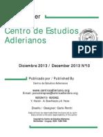 Newsletter Nº  10 Centro de Estudios Adlerianos