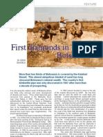 First Diamonds in Botswana
