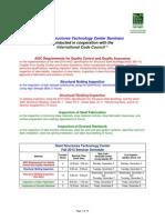 SSTC Fall 2013 Seminar Information