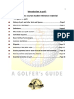 New Golfers Program-Student Manual