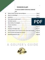 New Golfers Program-Student Manual