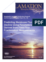 Report102 Predicting Membrane Flux Decline