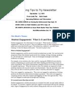 Teaching Tips to Try Newsletter September 6, 2009