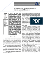 Empirical Investigation on the Determinants of Current Account Balances