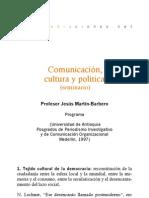 Seminario - Comunicación, cultura y política
