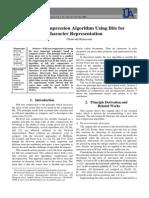 Text Compression Algorithm Using Bits for Character Representation