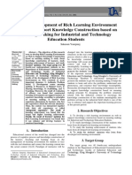The Development of Rich Learning Environment on Web to Support Knowledge Construction based on Meaning Making for Industrial and Technology Education Students