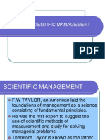 Taylor's scientific management theory