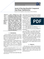Design Improvement of Steering Knuckle Component Using Shape Optimization