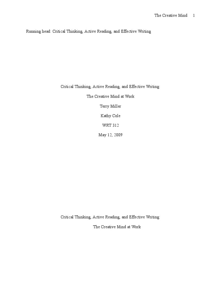 active reading skills reading and critical thinking in college pdf