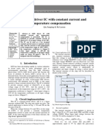 A LED driver IC with constant current and temperature compensation
