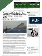 Petrobras, Shell, Total y dos empresas chinas explotarán el
