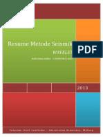 Resume Metode Seismik Bella - Wavelet