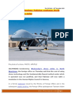 26 DEC 2013 - High Cost of Technology - Pakistan Condemns North Waziristan Drone Strike