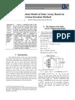 A Simulation Model of Solar Array Based on Newton Iteration Method