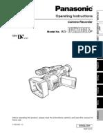 Panasonic Om Ag-dvx100b