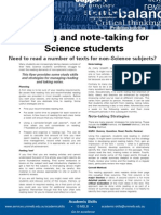 Reading and Notetaking for Science Students Update 051112