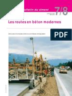 Les routes en béton moderne