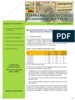 Zimbabwe - Monthly Economic Review - September 2013