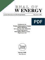 78391844 Journal of New Energy Full Edition Volume 3 Number 1 FULL BOOK 111p