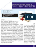 Enhancing Access to Printing Education in Nigeria