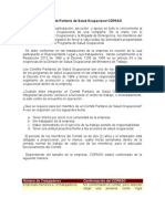 1. El Comité Paritario de Salud Ocupacional