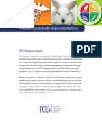 PCRM 2013 Progress Report