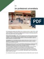 CRISIS ACADÉMICA formación profesional universitaria