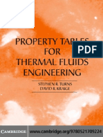 PROPERTY TABLES ThermalFluidsEngineering