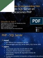 Usando SQL Server en aplicaciones PHP