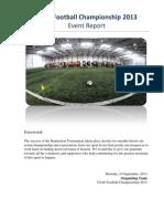 2013 Football Championship event report