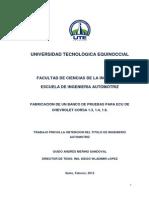 Banco de Pruebas Para ECU CORSA 1.3-1.4-1.8