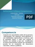 Definiciones Enfoque Competencias