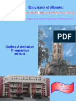 Mumbai university Prospectus