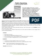 Public Speaking (L'arte della comunicazione in Pubblico)