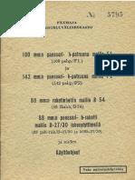 Päämaja Taisteluvälineosasto, 100 pshp F1 ja 142 pshp F2, 88 Rakh B54, 88 psh-rak B-27-30 ja niiden Käyttöohjeet