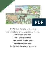 Old Pak Karim Has a Farm Song Lesson