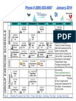 January 2014 Group Fitness Schedule