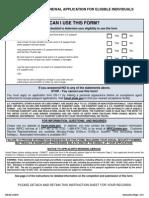 US Passport Card Form