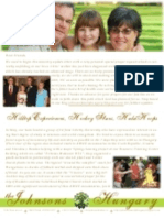 Johnson Prayer Letter Update Summer 2009