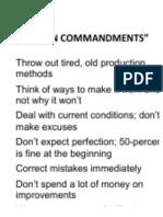 JIT 10 Commandments