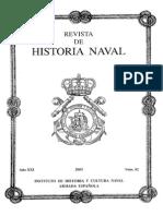 Revista de Historia Naval Nº82. Año 2003