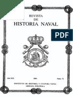 Revista de Historia Naval Nº72. Año 2001