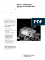Agilent RF Signal Generators - Options for the Agilent ESG Family - 5968-2807E