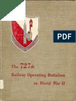 727th Railway Operating Battalion in World War II unit history