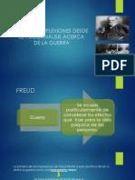 ALGUNAS REFLEXIONES DESDE EL PSICOANÁLISIS ACERCA DE LA GUERRA