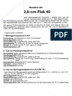 Ammunition 12 8cm Anti Aircraft Gun Flak 40 in German