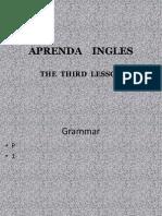 03 PPT - APRENDAMOS INGLES  - 2009 Lesson THREE.pptx