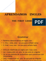 01 PPT - APRENDAMOS INGLES  - 2009 Lesson ONE.pptx